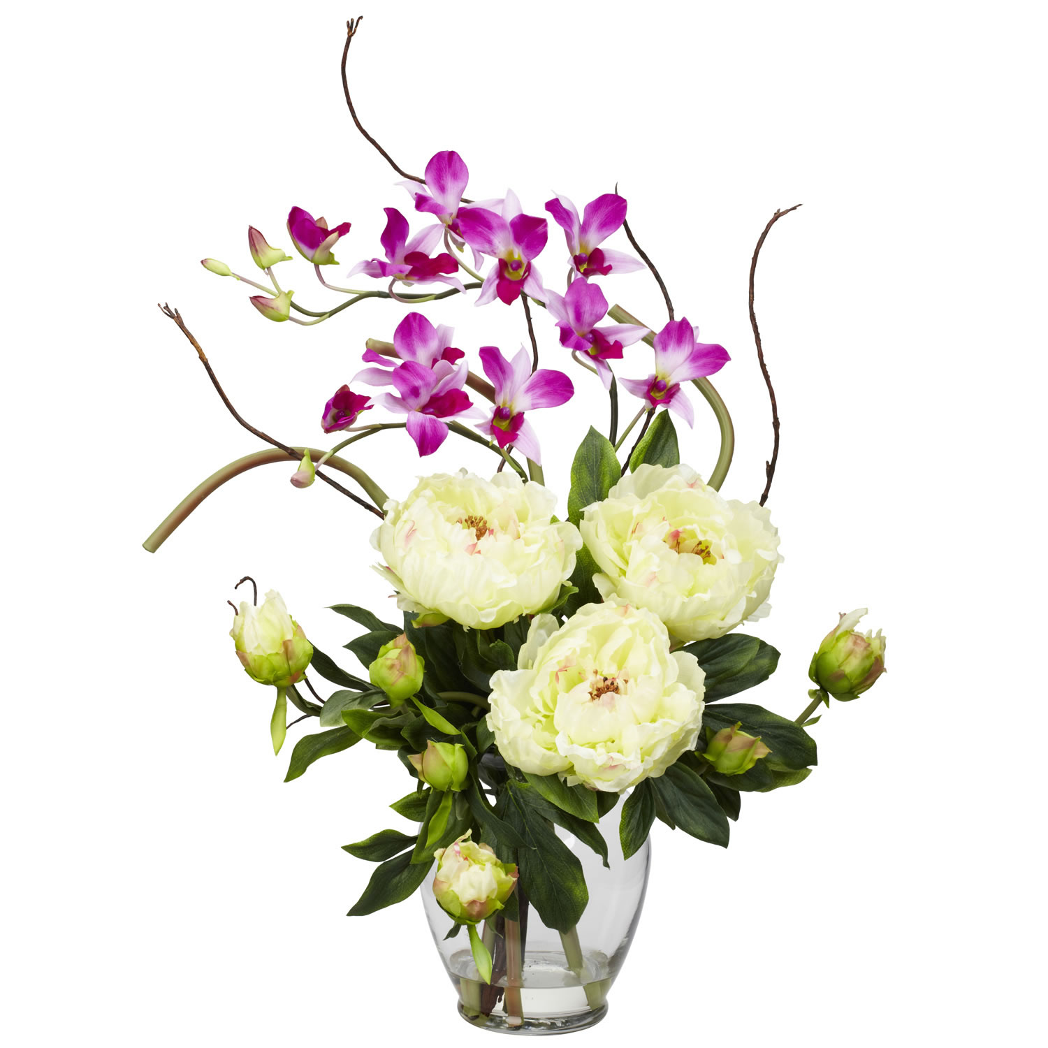 Add to cart peony orchid silk flower arrangement mightylinksfo Image collections