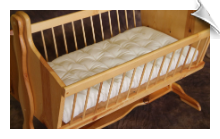 "Wool Mattress for Cradle & Bassinet (18"" x 35"" x 2.5"")"