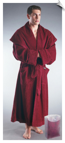 Black Mens Monk Bathrobe