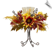 Sunflower Candelabrum with Iron Stand