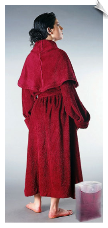 Black Womens Monk Bathrobe
