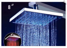 ALFI LED5001 8 Inch Square Multi Color LED Rain Shower Head