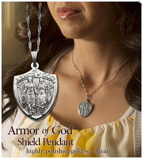 Armor of God Ladies Pendant Silver - 1 Each