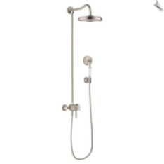 Axor Montreux 16570 Hand Shower and Shower Head Combo Kit