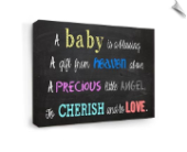 Baby is a blessing Wall Canvas Art
