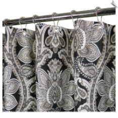 Watershed Medici Print Fabric Shower Curtain