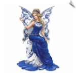 Love Story Angel Figurine Inspired By Blue Willow China