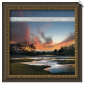 Be Still Framed Christian Landscape Artwork
