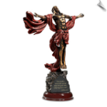 "Christ's Ascension In ""The Power Of Faith"" Bronze Sculpture"