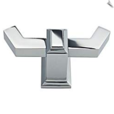 "Sutton Place 1 1/2"" Wide Polished Chrome Bath Hook"