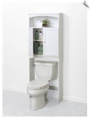 Cottage Collection White Over the Commode Shelf