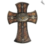 LONGHORN BELT BUCKLE CROSS