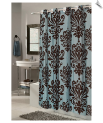 Damask Fabric Shower Curtain