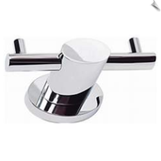 "Equinox Collection 4"" Wide Chrome Double Bath Hook"