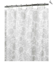 Watershed Floral Lace Fabric Shower Curtain