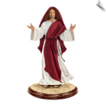 """Footprints In The Sand"" Poseable Jesus Sculpture"