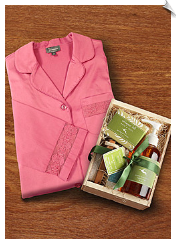 Gardeners' Bliss Sleepshirt Spa Gift Set