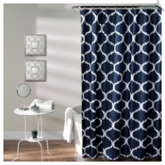 Lush Decor Geo Shower Curtain