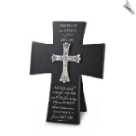 Cast Stone Scripture Cross