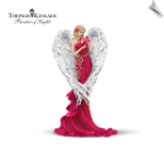 Thomas Kinkade Angel Figurine: Heart Of Love