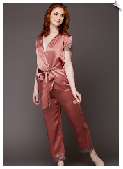 Island Time Silk Wrap Pajama