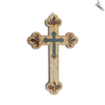 Vintage Jerusalem Gemstones Antique Style Wall Cross