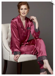Sleep-In Silk Pajamas