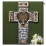 Abbey Press Faith, Hope, & Love Marriage Wall Cross