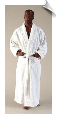 White Mens Full Length Bathrobe