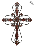 Toscana Flower Metal Wall Cross