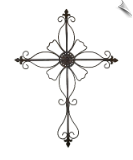 Large Metal Wall Cross Wall Art