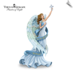 "Thomas Kinkade ""You Are My Soul, My Strength"" Angel Figurine"