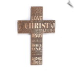 Names of Jesus Wall Cross