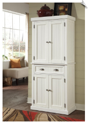 Home Styles Nantucket Pantry - Distressed White