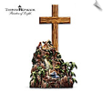 Thomas Kinkade Olive Wood Cross
