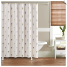 The Palm Fabric Shower Curtain