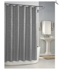 Parisian Fabric Shower Curtain - Dove Grey