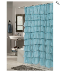 Ruffles Fabric Shower Curtain