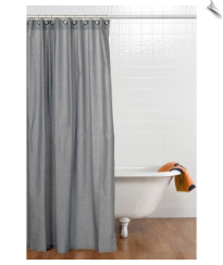 Teyo's Tires Fabric Shower Curtain with Hooks