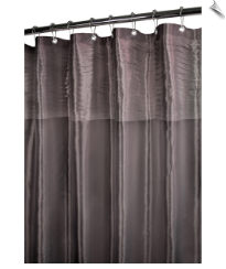 Tuxedo Pleat Fabric Shower Curtain