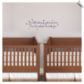 Vinyl Blessings Wall Decal for Twins