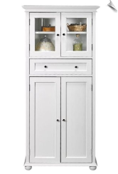 Hampton Bay Tall Storage Cabinet White
