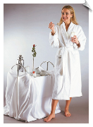 Womens Deluxe Turkish Bathrobe, White