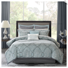 Anouk 12-Piece Jacquard Comforter Set by Madison Park