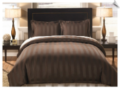 Divatex Home Fashions Woven Dobby Stripe Bedding Set