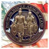 Armor of God Challenge Coin - 5 Each