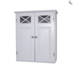 Shelved Wall Cabinet, White