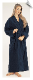Bright Blue Womens Full Length Bathrobe