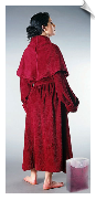 Burgundy Womens Monk Bathrobe