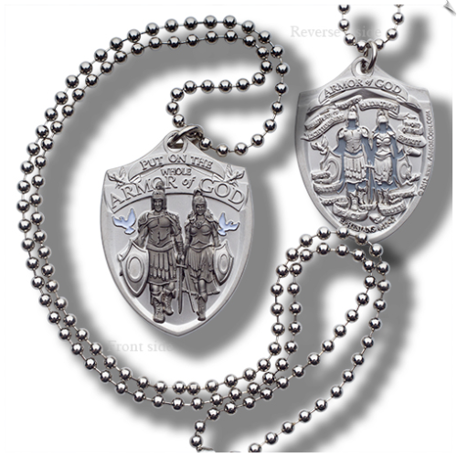 Armor of God Dog Tag Ball Chain - 10 Pack